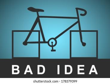 Bike with square wheels
