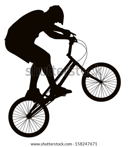 bike trick detailed vector silhouette sports stock vector royalty