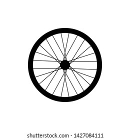 Bike wheel icon in trendy flat style isolated on white background. Symbol for your web site design, logo, app, UI. Vector illustration, EPS