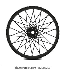how to put back wheel on mountain bike