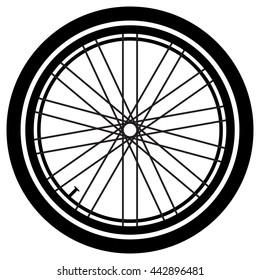 Bike wheel. Bike wheel vector. Bike wheel on a white background. Vector art.