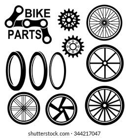 Bike wheels icon vector