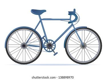 Bike,bicycle detailed realistic illustration