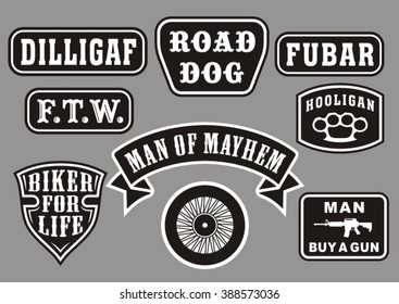 Biker Patch Images Stock Photos Vectors