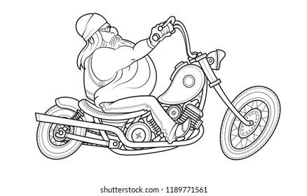 Chopper Motorcycle Stock Photos