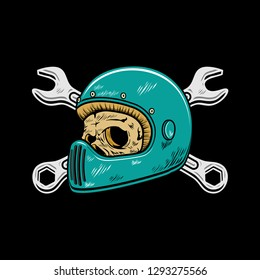 biker skull, skull bikers. Digital illustrations show the life of the skull of a biker. and street pride