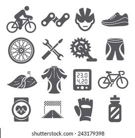 Biking icons