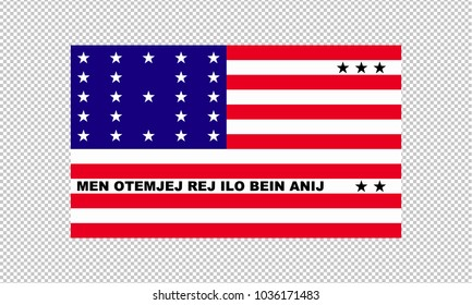 Bikini Atoll flag on transparent background. Template for independence day. vector illustration