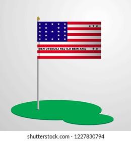 Bikini Atoll Flag Pole