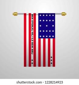 Bikini Atoll hanging Flag