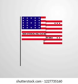Bikini Atoll waving Flag design vector