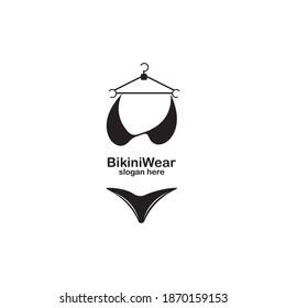 Bikini Wear Logo Design Vector