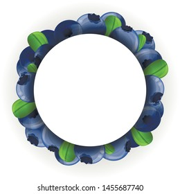 Bilberry circle concept background. Cartoon illustration of bilberry circle vector concept background for web design