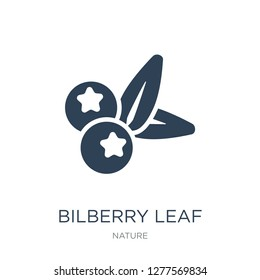 bilberry leaf icon vector on white background, bilberry leaf trendy filled icons from Nature collection, bilberry leaf vector illustration