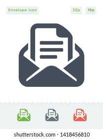 Bill & Envelope - Sticker Icons. A professional, pixel aligned icon.