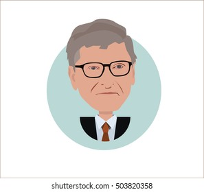 Bill Gates vector illustration