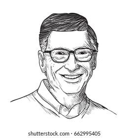 Bill Gates Vector Illustration