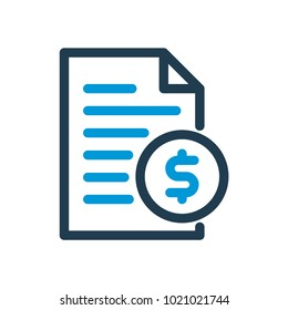 Bill payment line icon. Vector illustration.