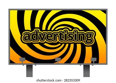 billboard advertising, business concept