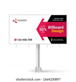 Billboard, banner design ideas for outdoor advertising, inspirational graphic design for placing photos and text, vector background