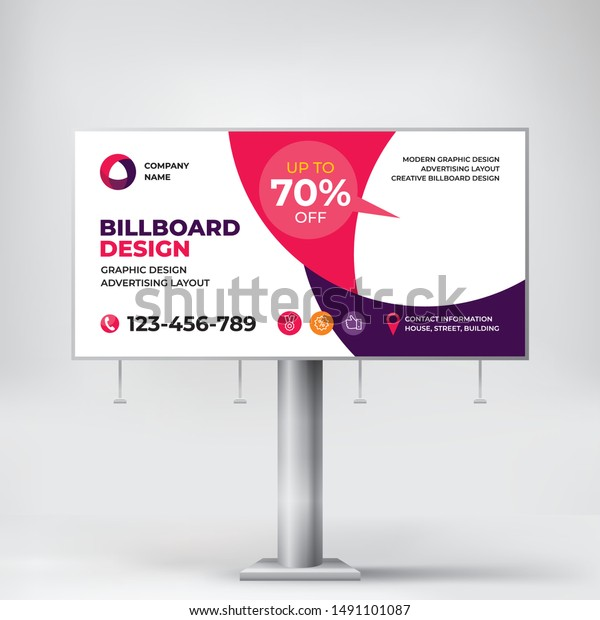 billboard creative banner design outdoor advertising stock vector royalty free 1491101087 https www shutterstock com image vector billboard creative banner design outdoor advertising 1491101087