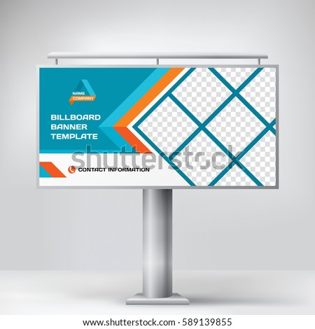 billboard design blue multipurpose banner template stock vector
