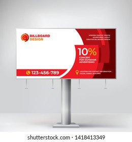 Billboard design, creative banner for outdoor advertising of goods and services, modern geometric background for posting photos and text