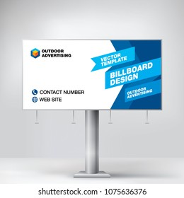 Billboard design, template banner for outdoor advertising, posting photos and text. Modern business concept. Creative background