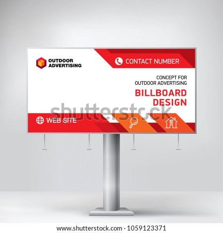 billboard design template banner outdoor advertising stock vector