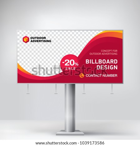 billboard design template outdoor advertising posting stock vector