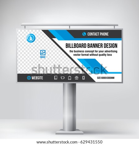 billboard design universal template placement advertising stock