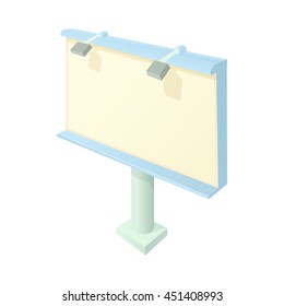 Billboard icon in cartoon style on a white background
