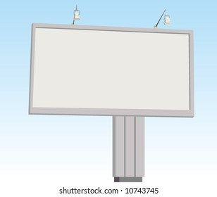 Billboard sign. Vector.