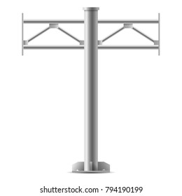 Billboard structure. Mockup for advertising or poster. Silhouette of steel structure billboard.