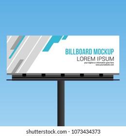 Billboard Template Mockups Design Vector Outdoor Stock Vector