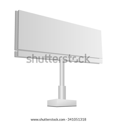 Billboard Template Vector Illustration Your Special Stock Vector