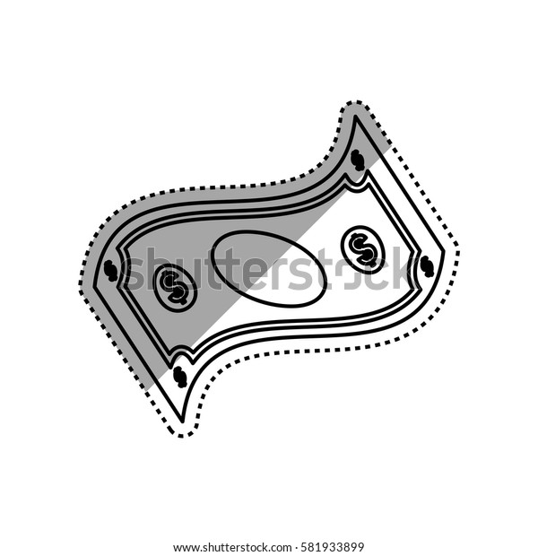 Billet of money icon vector illustration graphic design