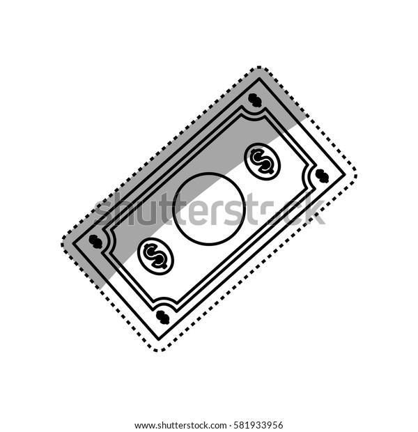 Billet of money icon vector illustration graphic design