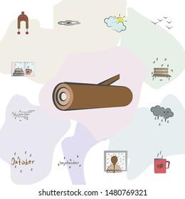 Billet, Stump icon. Universal set of autumn for website design and development, app development