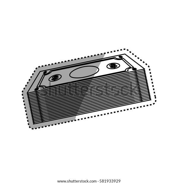 Billets of money icon vector illustration graphic design
