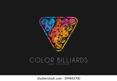 billiard ball logo. Billiard logo. Color ball logo.