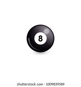 Billiard ball with number