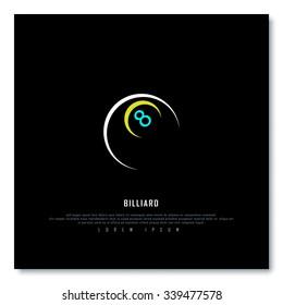 Billiard Black Freehand Sketch Graphic Design Vector Illustration EPS10