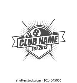 Billiard Club Logo Template