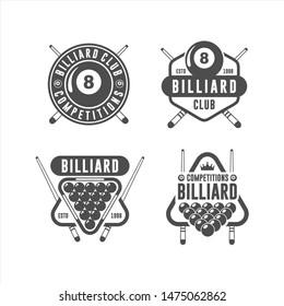 Billiard Design Logo Vector Set