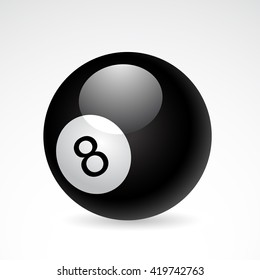 Billiard icon isolated on white background. Vector art.