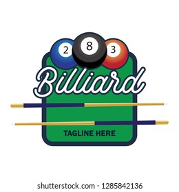billiard logo with text space for your slogan / tag line, vector illustration