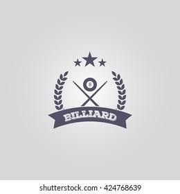 billiard logo. billiard vector. billiard emblem