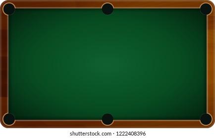 Billiard pool table vector. Billiard game sport sport competition leisure illustration