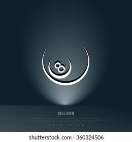 Billiard Teal Freehand Sketch Sparse Graphic Design Vector Illustration EPS10